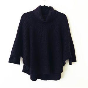 LOU & GREY Deep Purple Poncho Sweater